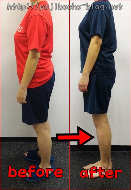 24/7ワークアウトで2ヶ月間ダイエットしら女性の体型の変化