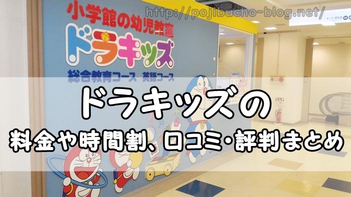 【札幌市の幼児教室】ドラキッズの教材費含む料金面や時間割などの詳細と口コミ・評判まとめ