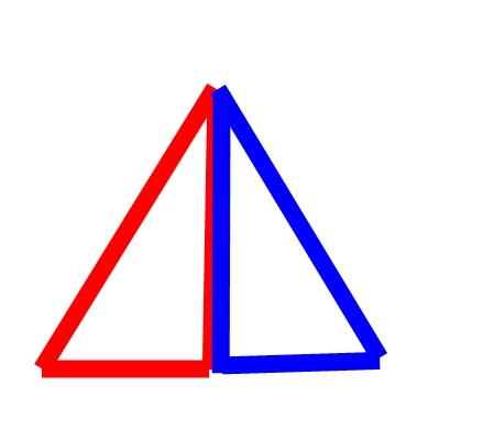 三角で大きな三角を作る