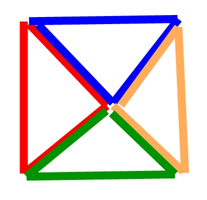 三角で大きな四角を作る