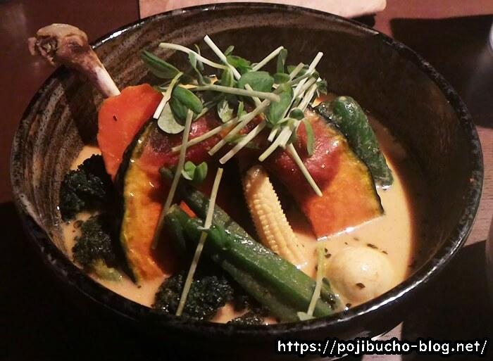 イエロー(豊水すすきの)のチキン野菜カリーの画像
