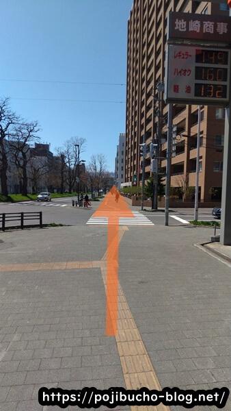 ラマイ中央店へ行く途中の歩道の画像