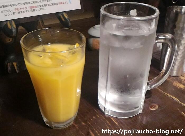 ラマイ本店のオレンジジュースとレモンライムソーダの画像