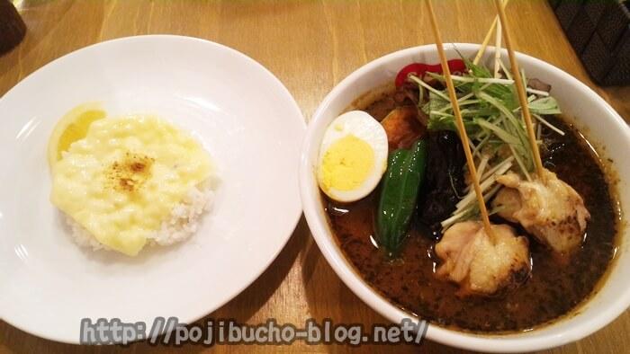 札幌のスープカレー、おすすめランキング2位のすあげ、スアゲ2、suage3のチキンカレー