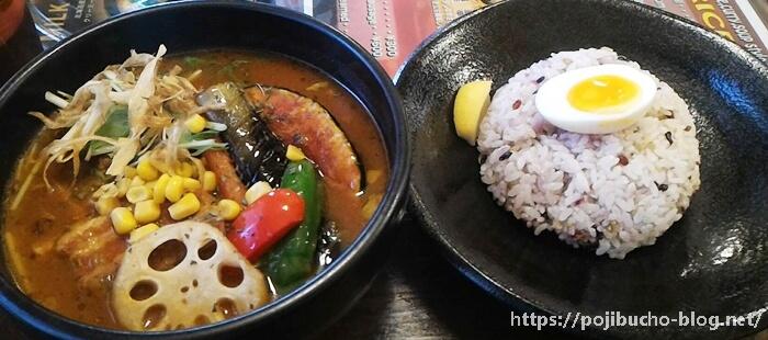 カオスヘブンのトンチキ(豚の角煮と野菜)のトマトスープで辛さ4番の画像