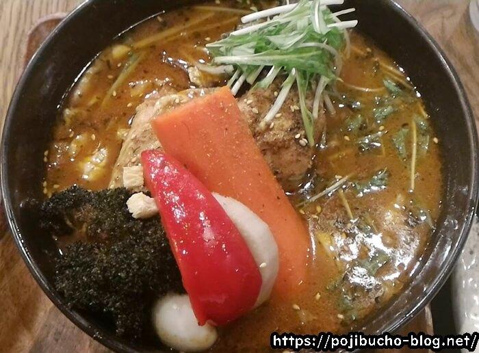 ガラクのやわらかチキンレッグと野菜のスープカレーの画像