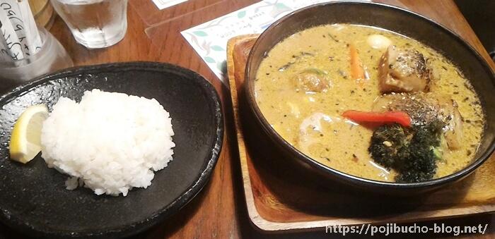 ガラク八王子店の角煮カレーの山の恵スープの画像