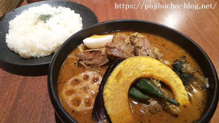 ショーリンのポークカリーの海老スープの辛さ4番の画像