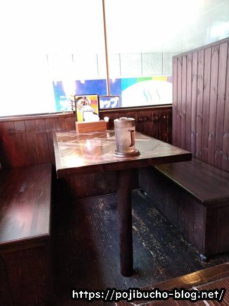 龍祈のテーブル席