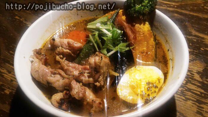 suage+(すあげぷらす、本店)で注文したゆず胡椒風味のせせりのスープカレーの画像
