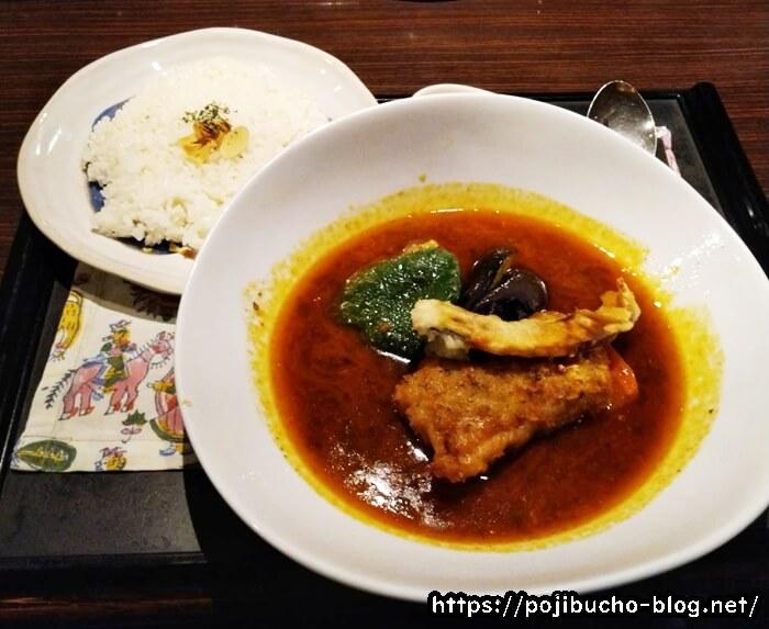 ターラのスープカレーのチキン野菜の辛さは辛いの画像