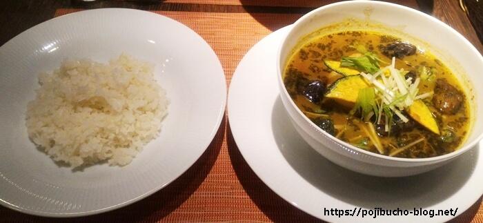 カレー&バール GARAM(ガラム)のスープチキンの辛さ2番の画像