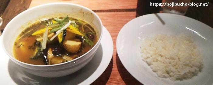 カレー&バール GARAM(ガラム)のスープポークの辛さ3番の画像
