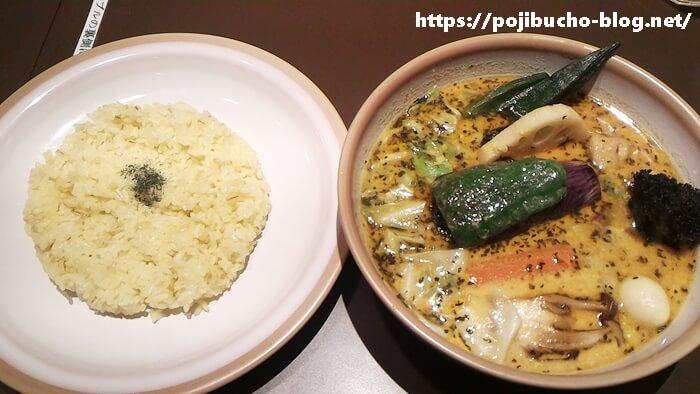 SOUP CURRY KING(スープカリーキング)セントラル店のポーク角煮野菜カリーの辛さ4番の画像