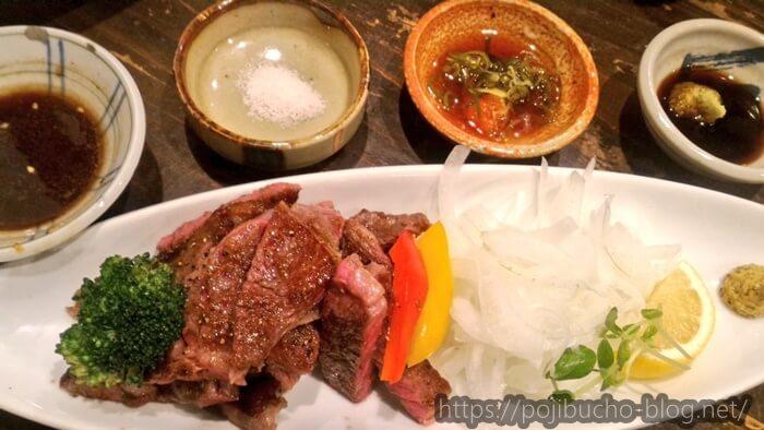 CAZICAFEで食べた淡路牛のステーキ