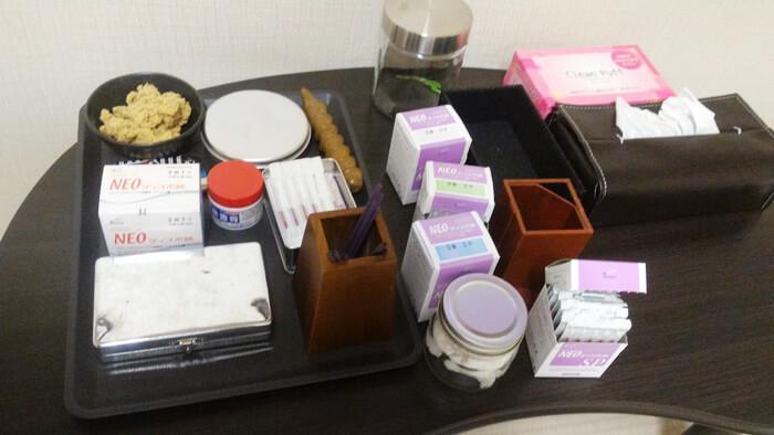 札幌市の鍼灸院「くらさろ」の治療用具