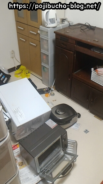 地震発生直後の自宅の様子