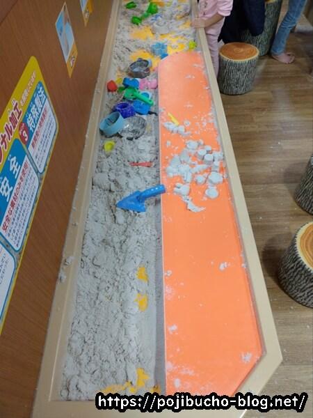 あそびパークPLUS札幌エスタ店の砂遊び