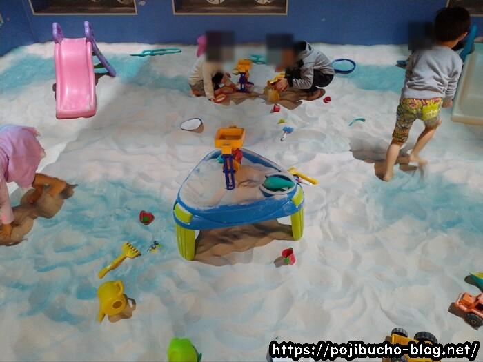 あそびパークPLUS札幌エスタ店の砂浜のおもちゃ