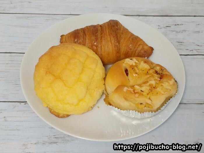 今回購入したフールノーのパン3種類