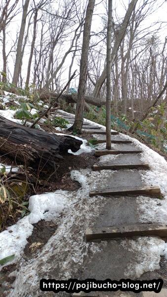 suage3へ向かう途中の雪で滑る道の画像
