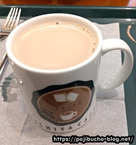 イシヤカフェのチョコレートドリンク