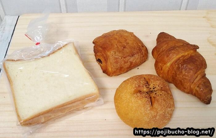 カトルフィーユの購入したパン4種類
