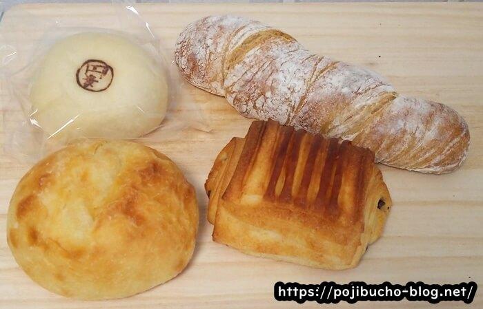 円麦の購入したパン4種類