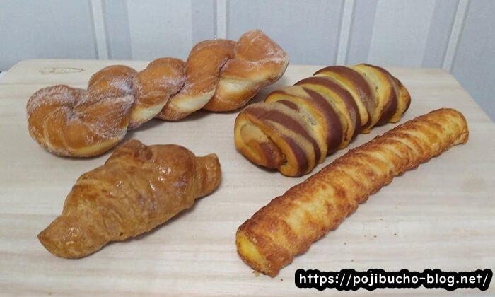 コップパンの購入したパン4種類