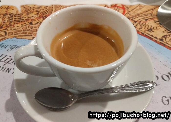 ピッツェリアダルセーニョドゥエのコーヒーの画像