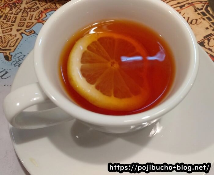ピッツェリアダルセーニョドゥエの紅茶の画像