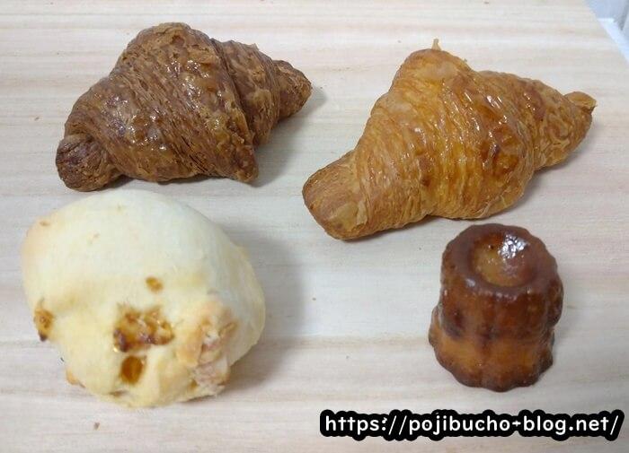 ミニワンの購入したパン4種類