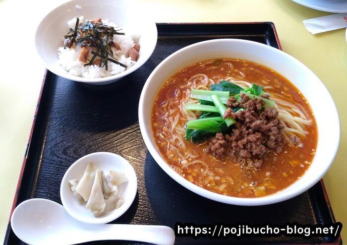 札幌四川飯店の担々麺定食の画像