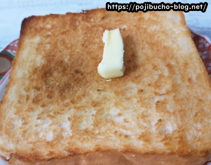 嵜本の食パンのトースト